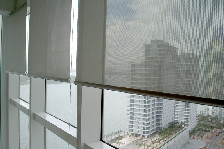 Vertical Express Motorized Window Shades Roller Shades
